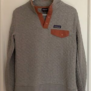 Patagonia Grey Quilted Pullover NWOT